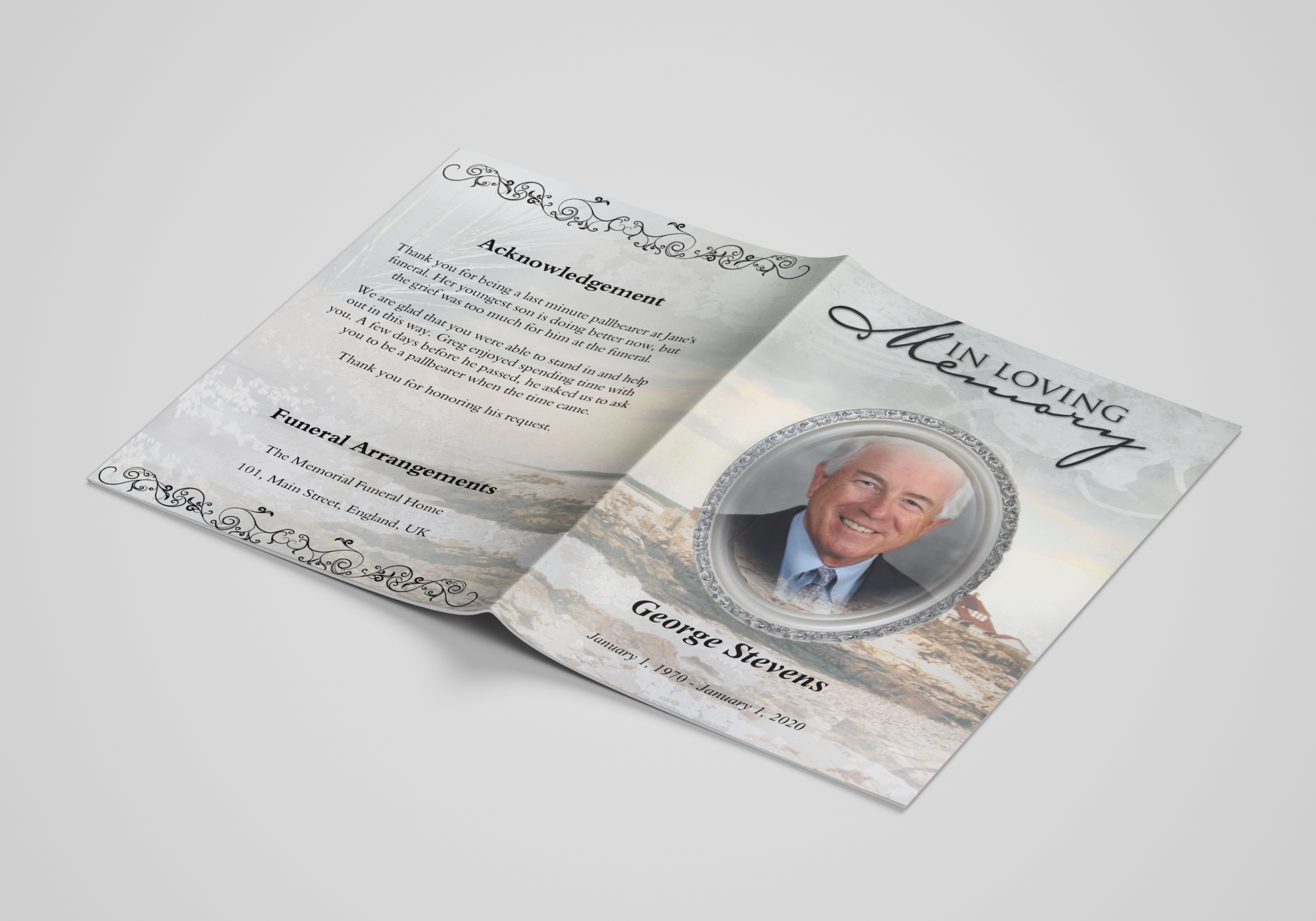 Fair Lighthouse Front Order of Service Template Covers